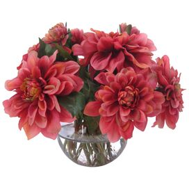 Dahlia Nosegay in Small Bowl