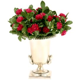 Red Clover in Silver Urn - Set of 2
