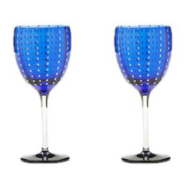 Perle Wine Glass in Blue