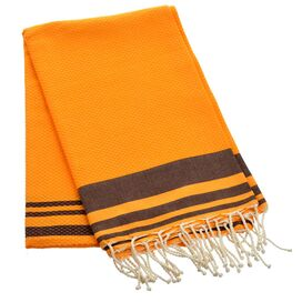 Mersin Towel in Orange and Brown