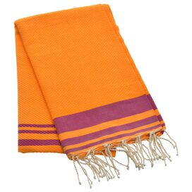 Mersin Towel in Orange and Fuchsia