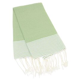 Carthage Fouta Hand Towel in Green