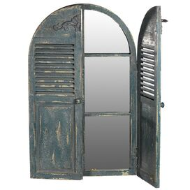 Poitiers Wall Mirror with Shutters
