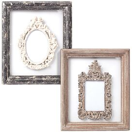 2 Piece Victoria Picture Wall Plaque Set