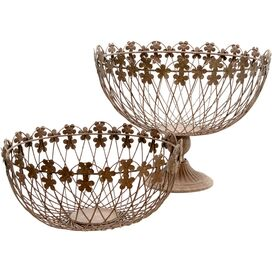 2 Piece Petals Basket Set