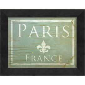 Paris in Blue Framed Print