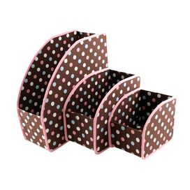 3 Piece Polka Dots Cubby Set