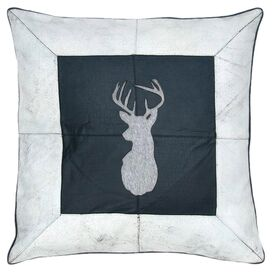 Stag Leather Pillow III
