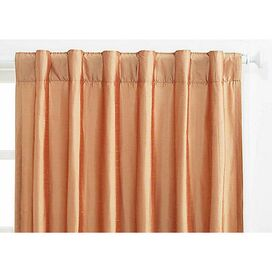 Coralie Silk Curtain Panel in Sea Shell