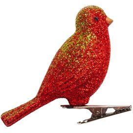 Barton Bird Ornament in Red