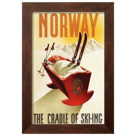 Cradle of Skiing Framed Print