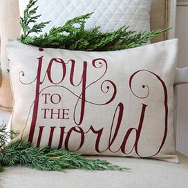 Joy to the World Pillow Cover