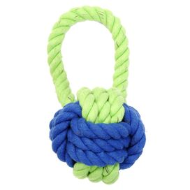 Have A Ball Rope Toy in Lime & Blue