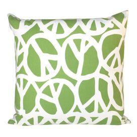 Peace Pillow in Green