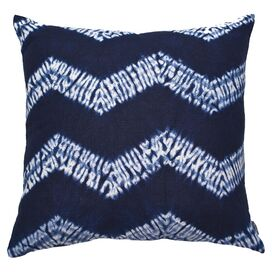 Mustique Pillow II Indigo & Ivory
