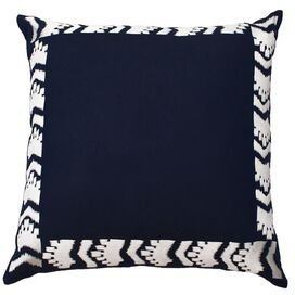 Cabo Pillow VI in Navy & Ivory
