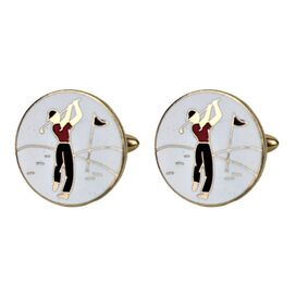 Vintage Golf Cufflink - Set of 2