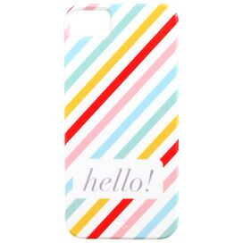 Neapolitan Stripe Hello! iPhone Case in Multi