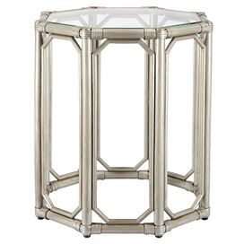 Regent End Table in Silver