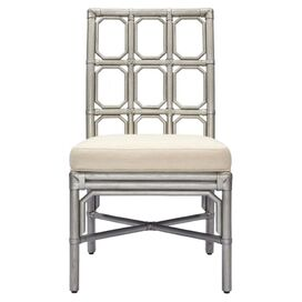 Brighton Side Chair in Silver