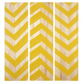 3 Piece Zig Zag Wall Art Set