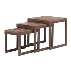 3 Piece City Hall Nesting Table Set
