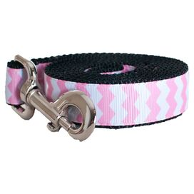 Zig Zag Leash in Pink