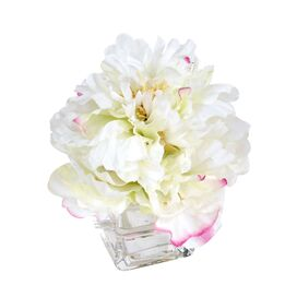 Faux Peony Arrangement in White