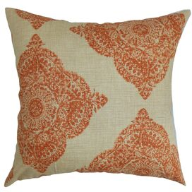 Medallion Pillow in Terracotta