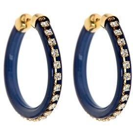 Bentley Earrings in Navy