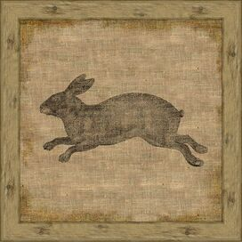 Garden Rabbit Wall Art II