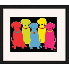 Five Labs Framed Print