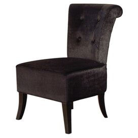 Anna Tufted Side Chair in Black