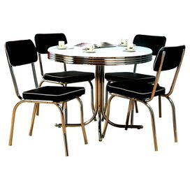 5-Piece Sandra Dining Set in Black