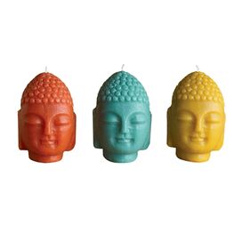 3 Piece Buddha Candle Set