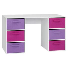 7 Piece Jordan Writing Desk Set in Pink