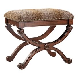 Cheetah Accent Stool