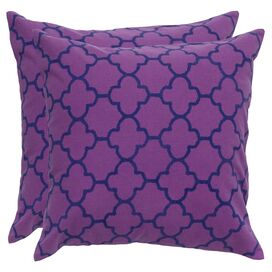 Evelyn Pillow in Purple