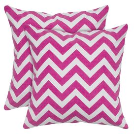 Chevron Pillow in Hot Pink