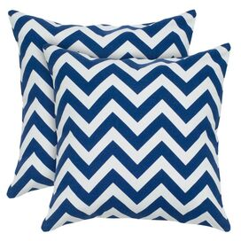 Chevron Pillow in Navy