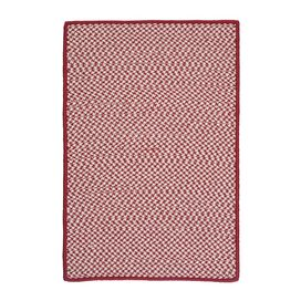 Houndstooth Indoor/Outdoor Rug in Sangria