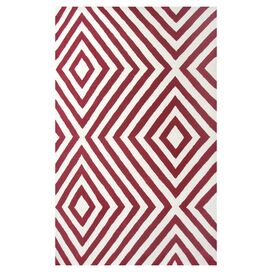 Zuel Rug in Red