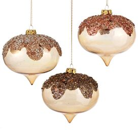 Golden Glitter Ornament
