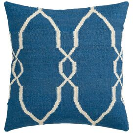 "Diamante 22"" x 22""  Pillow in Blue"