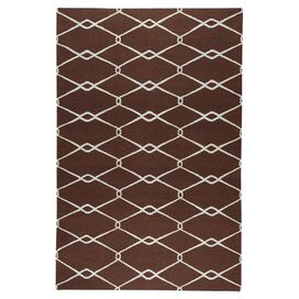 Links Rug in Chocolate