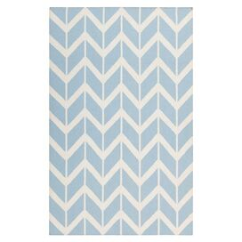 Chevron Rug in Stormy Sea
