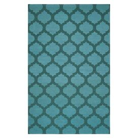 Frontier Rug in Teal Green & Sea Blue