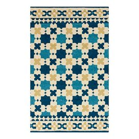 Bastille Indoor/Outdoor Rug in Sapphire Blue