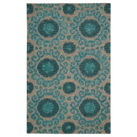 Nadoor Rug in Teal