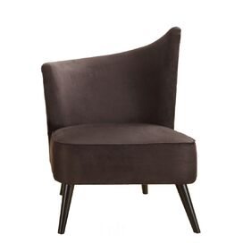 Georgina Left-Side Accent Chair in Black